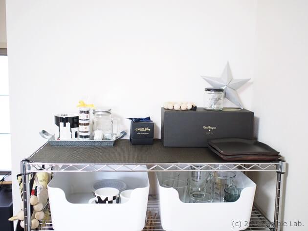 キッチン 収納 ステンレスラック ディスプレイ