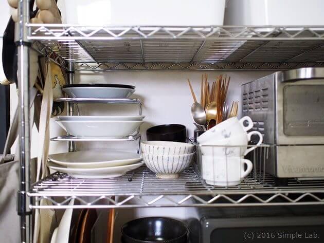 キッチン 収納 食器 カトラリー ステンレスラック