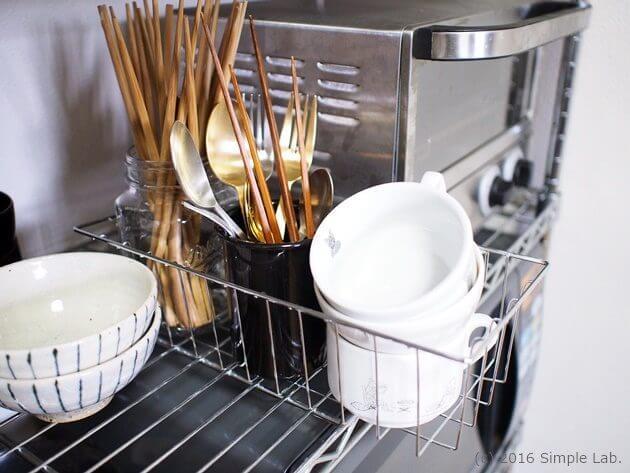 キッチン 収納 食器 カトラリー ステンレスラック 収納方法