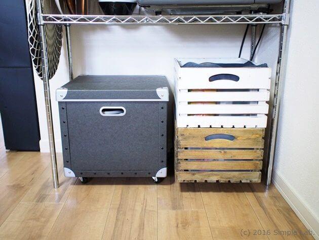 無印良品 硬質パルプ ストッカー キッチン 収納 ウッドボックス