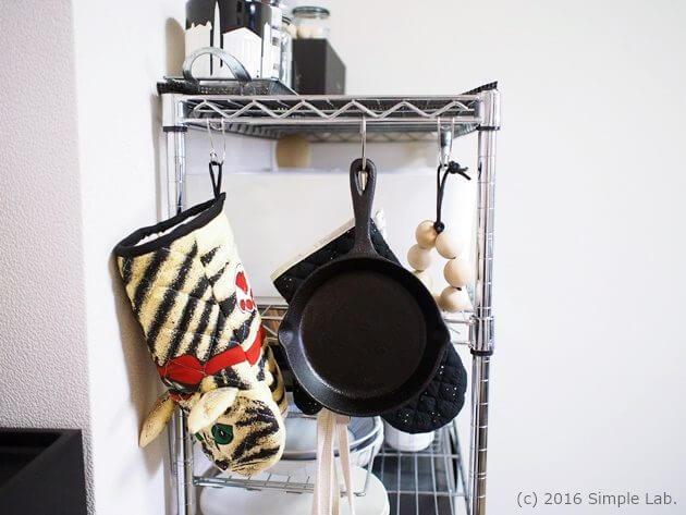 キッチン 収納 インテリア ステンレスラック ニトスキ 鍋敷き 鍋つかみ