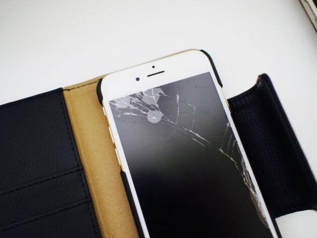 iPhone アイフォン 画面割れ 手帳型ケース