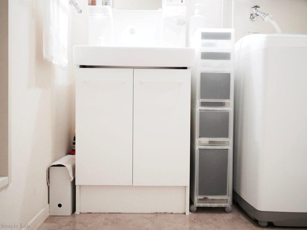 洗面所 洗面所下収納 片付け 無印良品 無印 PPストッカー ファイルボックス