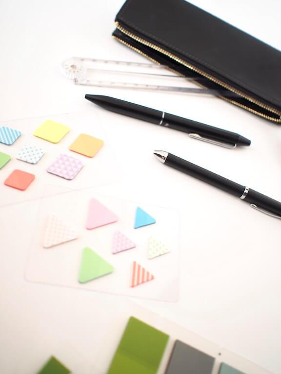 DAISO ダイソー 付箋 おしゃれ シンプル 可愛い おすすめ ペンケース 文房具
