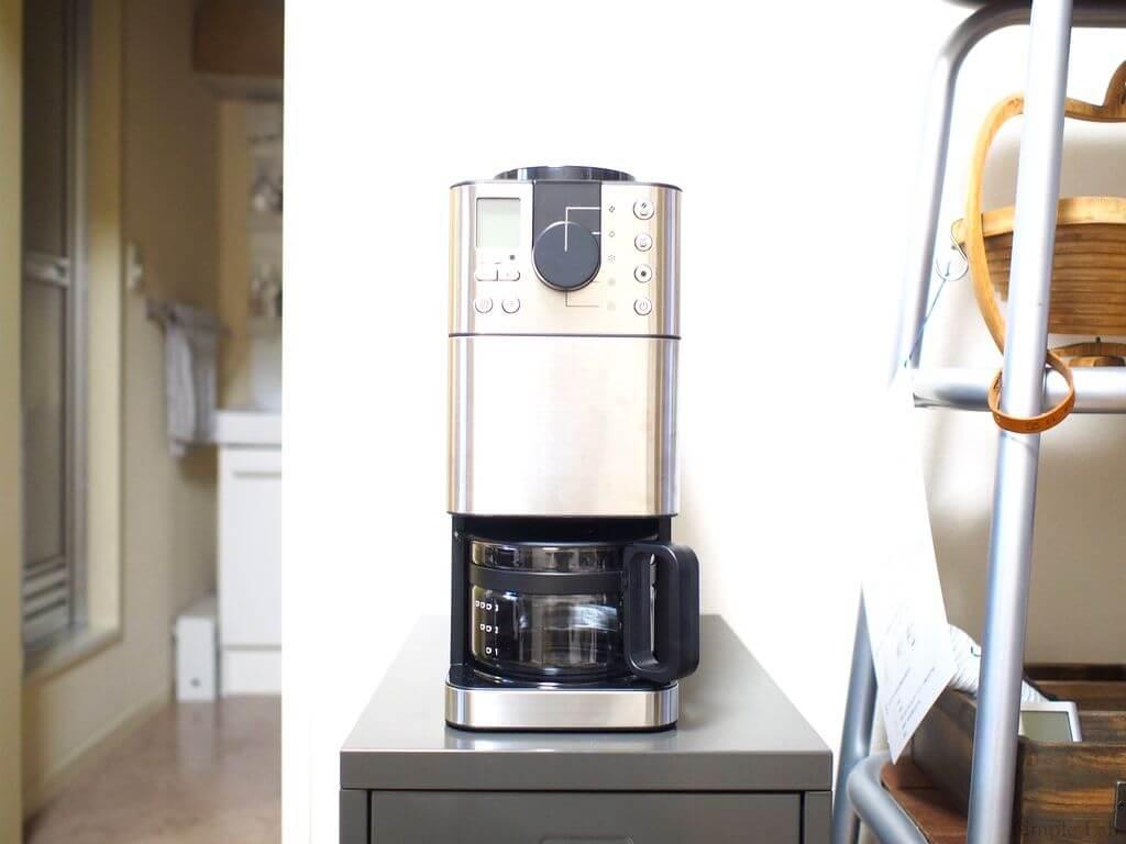 muji 無印 無印良品 豆から挽けるコーヒーメーカー 全自動コーヒーメーカー ステンレス ブラック シンプル ガイアの夜明け キッチン